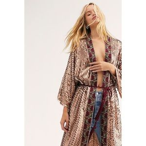 Free People Light Is Coming Duster Sequin Robe